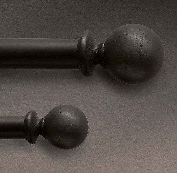 Dakota Ball Finials Soft Iron (Set of 2)