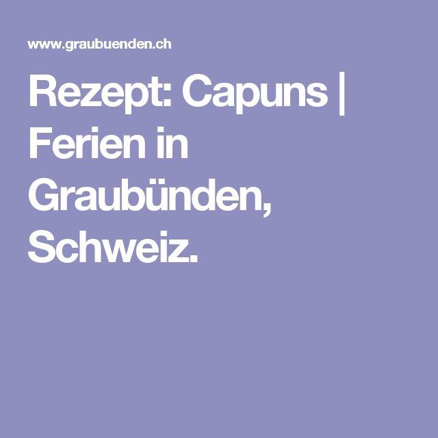 Rezept: Capuns | Ferien in Graubünden, Schweiz.
