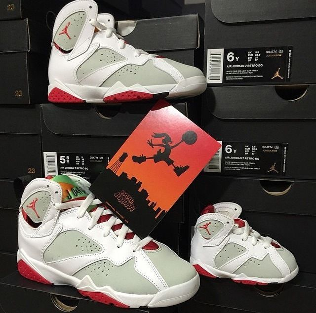2228a2829 Nike Air Jordan Retro 7 HARE Bugs Toddler 1C-5Y Lola White True Red  Preschool  Jordan  Athletic