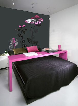 Love this! Want the over the bed table - totally making one ASAP!