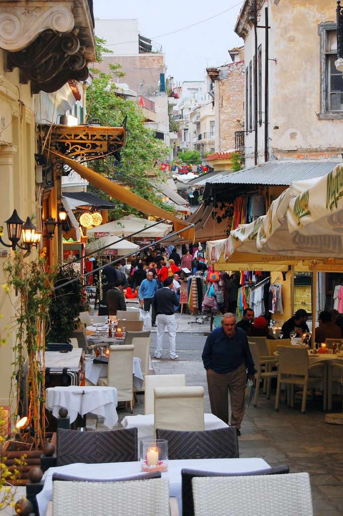 Street in Plaka, Athens, Greece