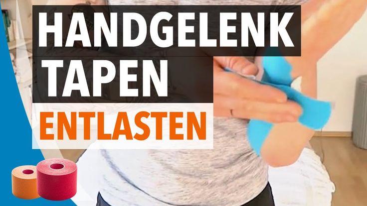 HANDGELENK TAPEN / ENTLASTEN - Anleitung zum Hand selber Tapen - Handgel...