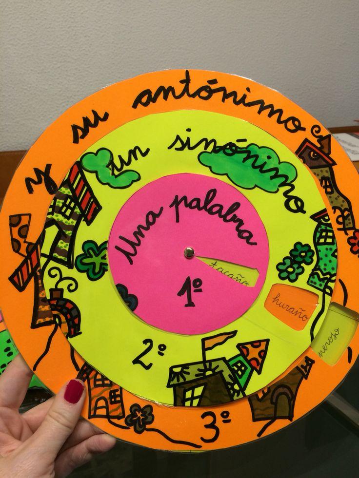 Trabajamos el vocabulario con la rueda de sinónimos y antónimos!
