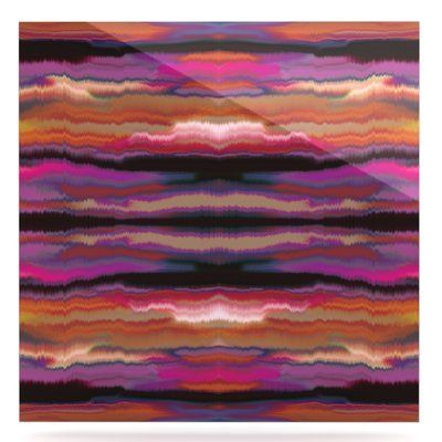 """East Urban Home 'Sola Color' Graphic Art on Metal in Purple Size: 10"""" H x 10"""" W x 1"""" D"""