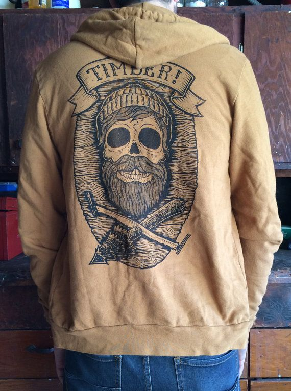 SKULL on camel zip up hoody by timberps on Etsy, $80.00