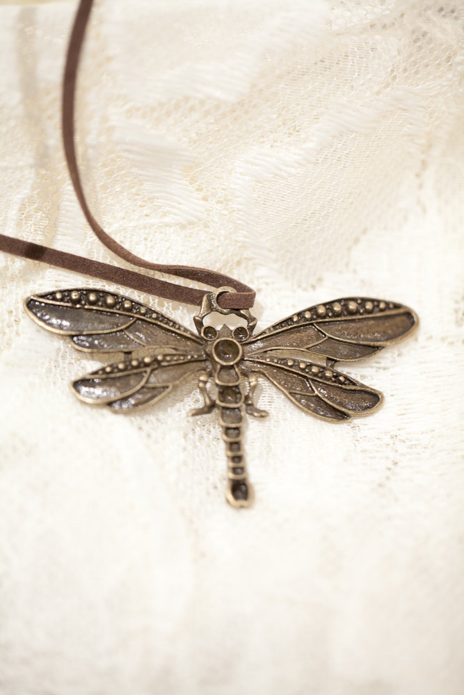 Dragonfly Pendant via Etsy.