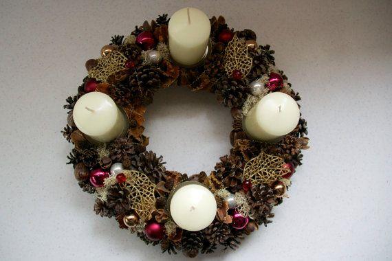 Christmas Wreath Seasonal Wreath Holiday Wreath by JuraDeco