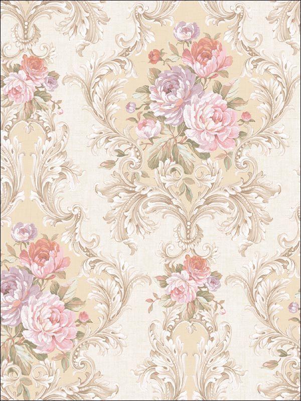 wallpaperstogo.com WTG-134298 Seabrook Designs Traditional Wallpaper
