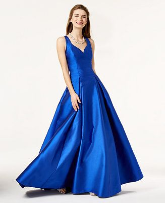 cf695ffc7 B Darlin Juniors' Crisscross-Back Gown - Juniors Prom Dresses - Macy's