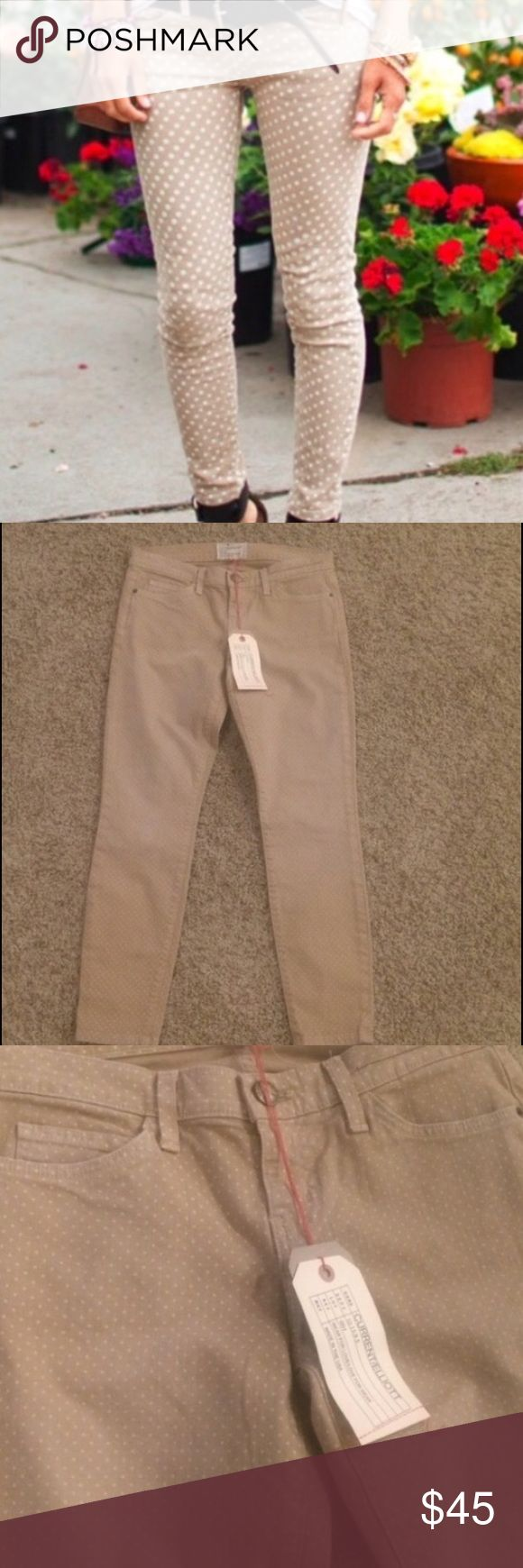 Current Elliot polkadot stilleto New with tags Anthropologie Jeans