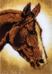 Clics Latch Hook Kit Horse 20inx30in