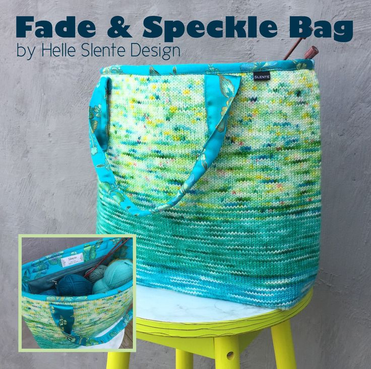 The Fade & Speckle Bag by Helle Slente Design | Hand dyed yarn | Pattern including sewing instructions is launched 2/9.17 on Ravelry