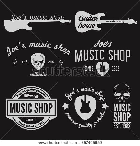9 Best Guitar Logos Images On Pinterest