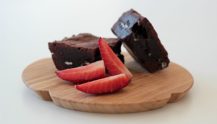 Oreo brownies with strawberries by blogliebling.dk
