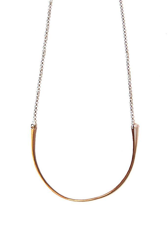 giantlion brass hoop necklace.