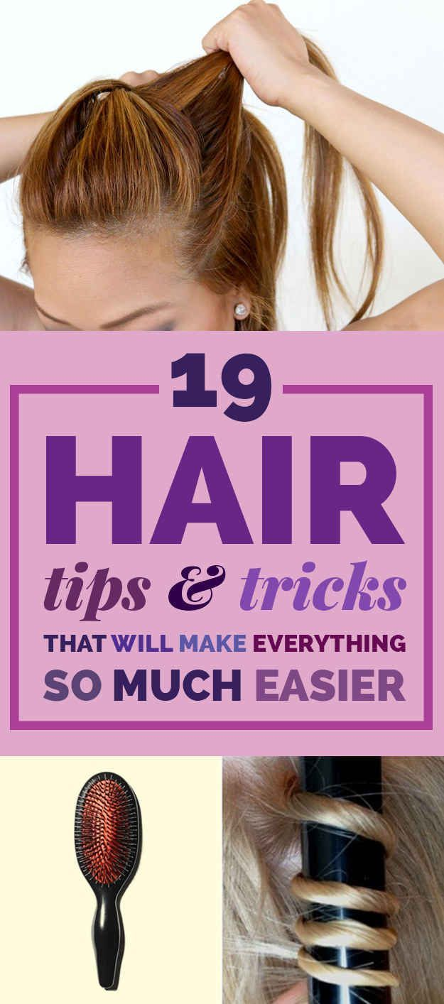 The struggle with our hair is too much sometimes! Give these tips and tricks a try to make dealing with your hair a little easier!
