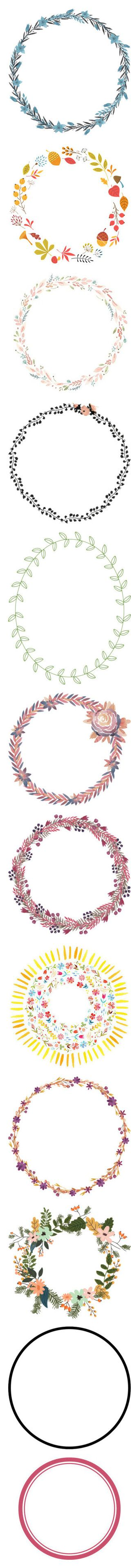 """Wreaths & Circular Frames"" by encelade ❤ liked on Polyvore featuring frames, effect, flowers, borders, picture frame, backgrounds, fillers, circle, circular and round"