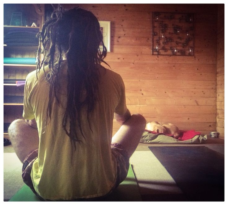 The way to start your day # yoga #mens yoga #pets yoga