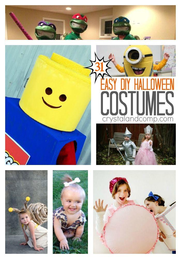 31 Easy DIY Halloween Costumes Trajes de bricolaje, Disfraces de - diy infant halloween costume ideas