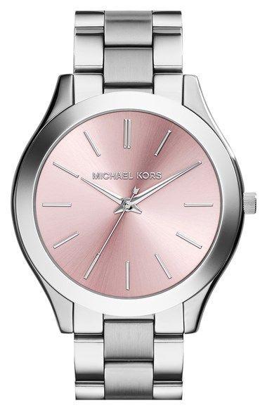MICHAEL Michael Kors Michael Kors 'Slim Runway' Bracelet Watch, 42mm (Nordstrom Exclusive) available at #Nordstrom