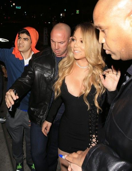 """Mariah Carey Photos Photos - Mariah Carey and her boyfriend Bryan Tanaka are spotted at Catch Restaurant in West Hollywood, California on February 4, 2017. Mariah just released her latest single, """"I Don't"""", reportedly about her breakup with ex-fiance James Packer. - Mariah Carey And Bryan Tanaka Spotted At Catch Restaurant In West Hollywood"""