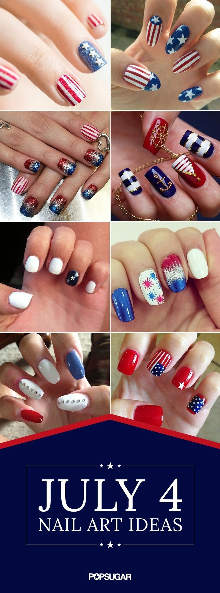 4 July nail ideas............