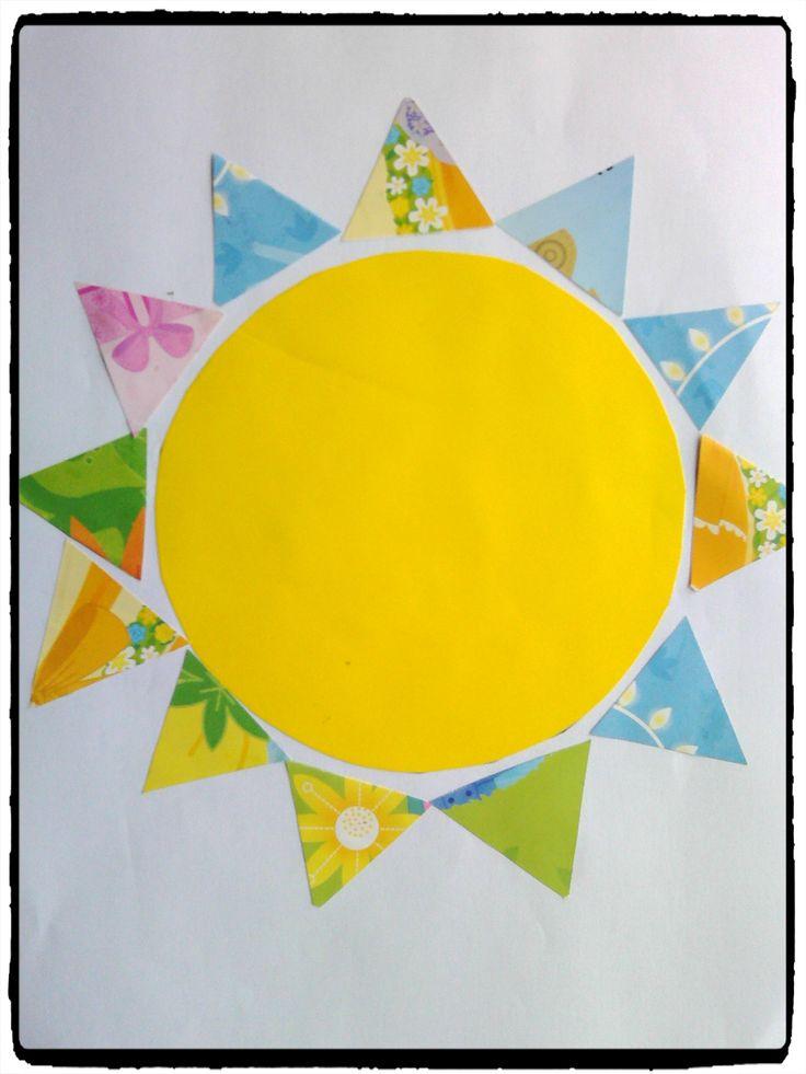 bricolage soleil, collage, activité enfant, été