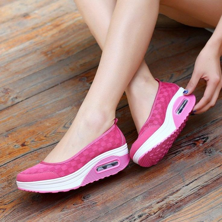 Women Platform Sneakers Slip On Trainers Comfy Plaid Loafers Walking Sport Shoes