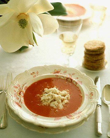 Chilled Bloody Mary Soup with Crabmeat Recipe