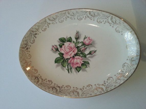 Check out this item in my Etsy shop https://www.etsy.com/listing/204719393/georgian-china-tudor-rose-oval-plates
