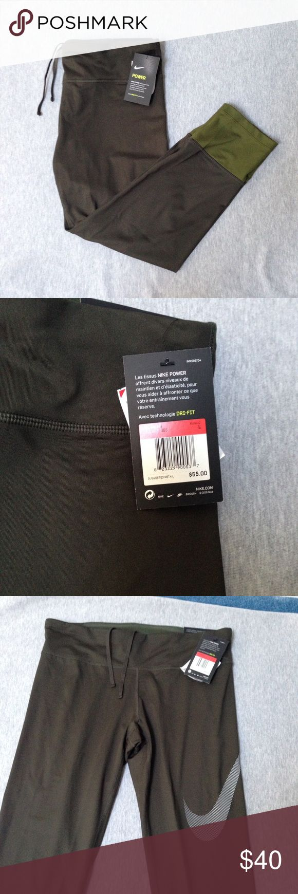 NWT Nike running pants leggings size Large Dri Fit Brand new with tags. Authentic Nike! CHECK OUT MY CLOSET FOR MORE DESIGNS SND SIZES! Nike Pants Leggings