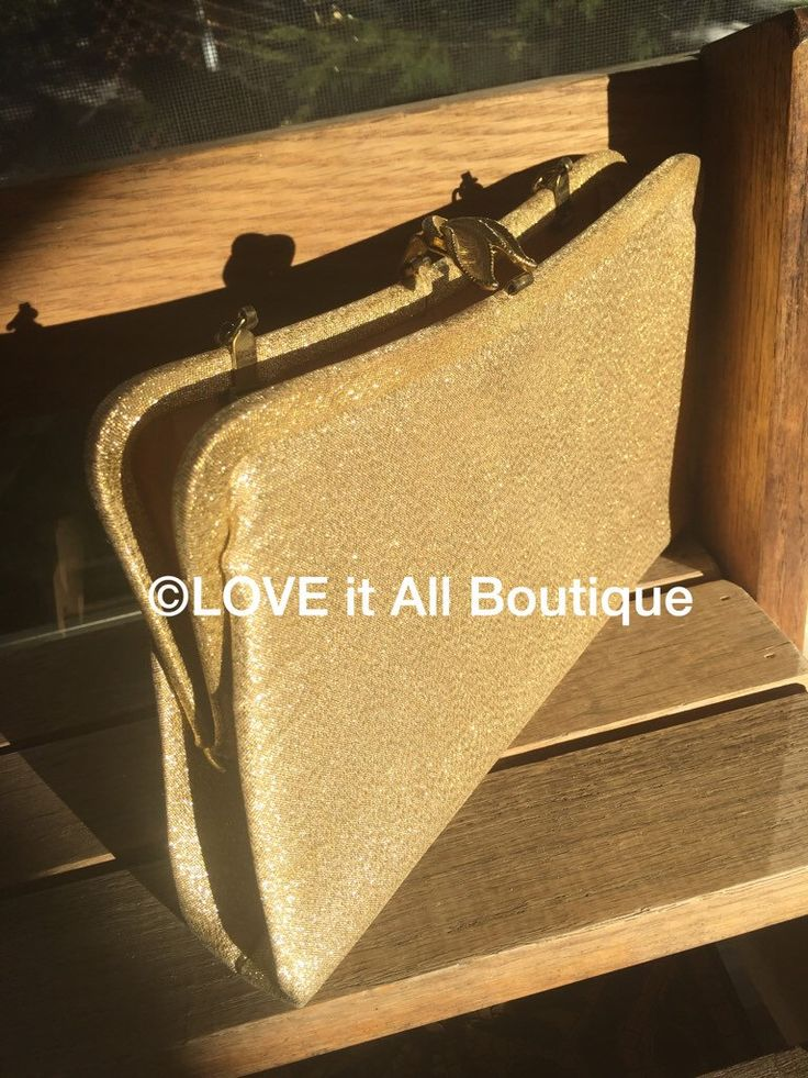 A personal favorite from my Etsy shop https://www.etsy.com/listing/252745357/vintage-gold-handbag-gold-purse-gold