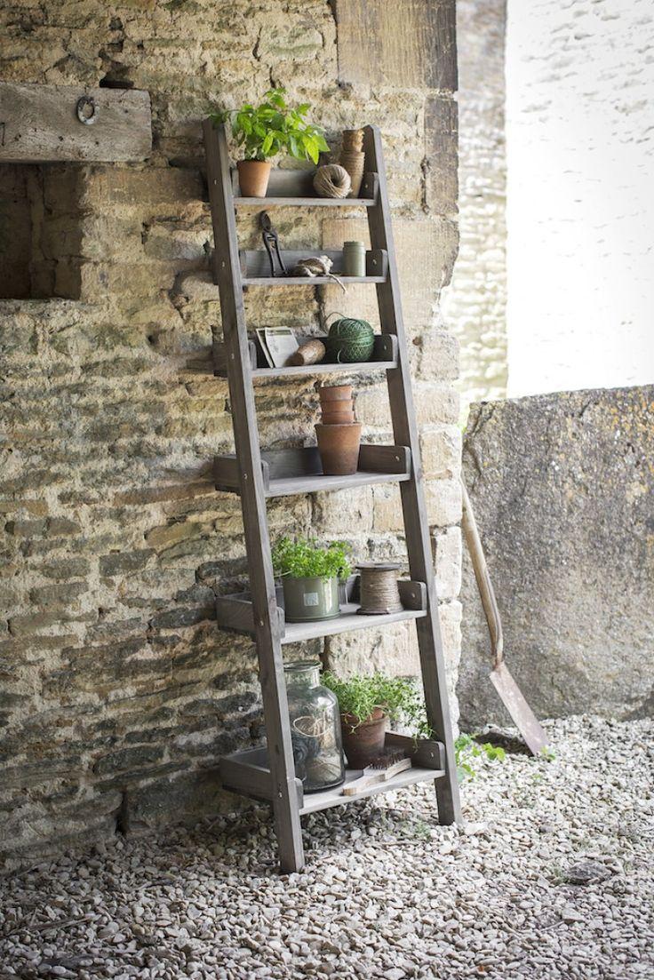 houten decoratie ladder Aldsworth | Opbergrekken hout