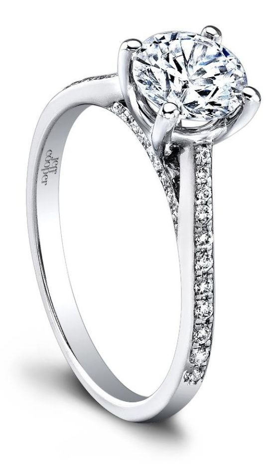 The stunning Therese diamond engagement ring by Jeff Cooper. Via Diamonds in the Library.  For more great engagement Rings see: http://www.engagement-rings-specialists.com #engagement #Rings