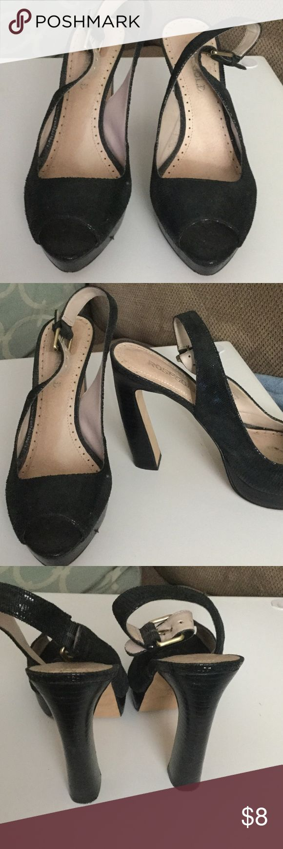 Rose gold Peep toe platform Nadia black 38 Only wore the shoes a couple of times very professional looking comfortable true to size. Leathe Rosegold Shoes Platforms