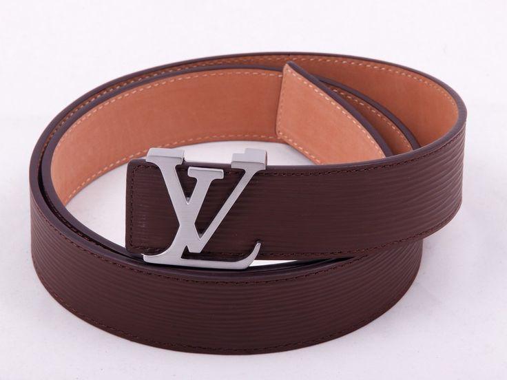 Кожаный ремень Louis Vuitton (Луи Витон) коричневый, Epi Leather #19490 !! Распродажа модели !! Модель со скидкой !!