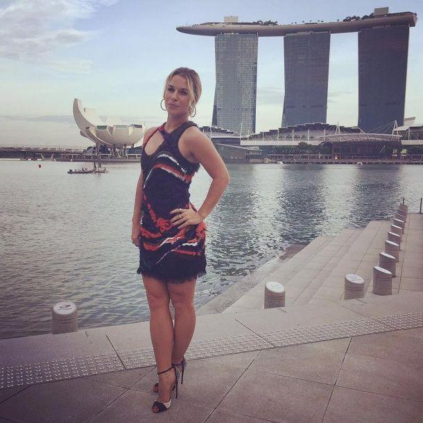 Dominika Cibulková na otváracom ceremoniáli WTA Finals v Singapure