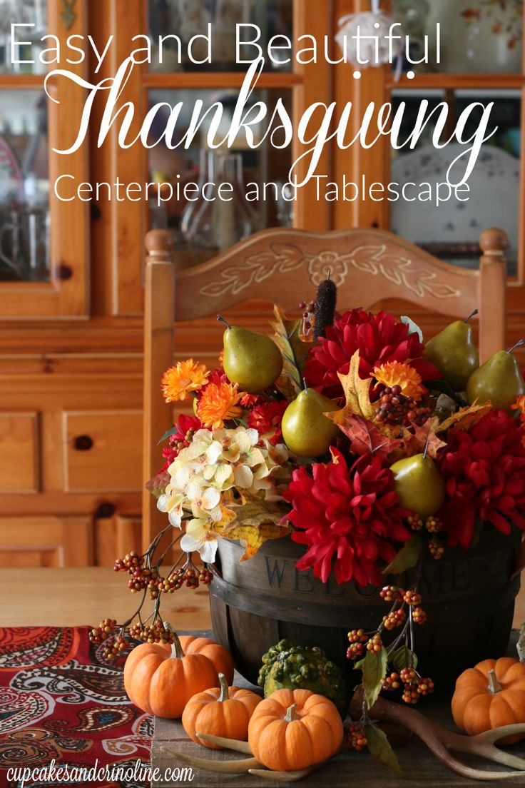 Easy Thanksgiving Tablescape And Centerpiece That Anyone