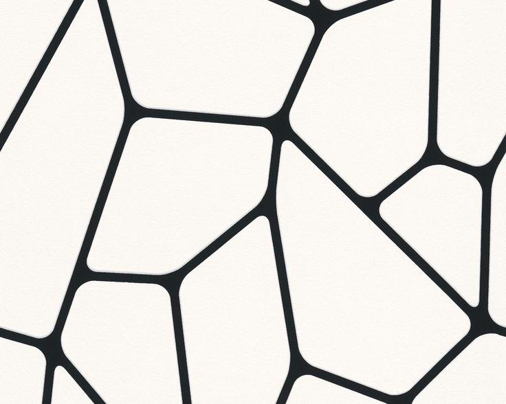 Gestreifte Tapeten Schwarz Wei? : Graphische Muster in schwarz- wei?, Livingwalls Tapete 255266 #black