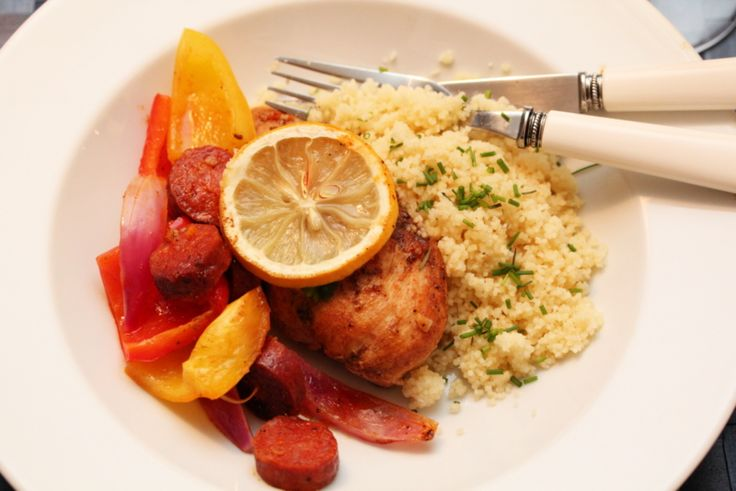 Kyllingform med chorizo, paprika og sitron - TRINEs MATBLOGG