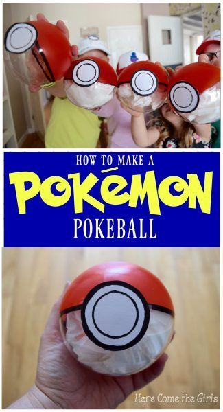 How to make a real life Pokeball - A cute Pokemon Go themed craft for kids