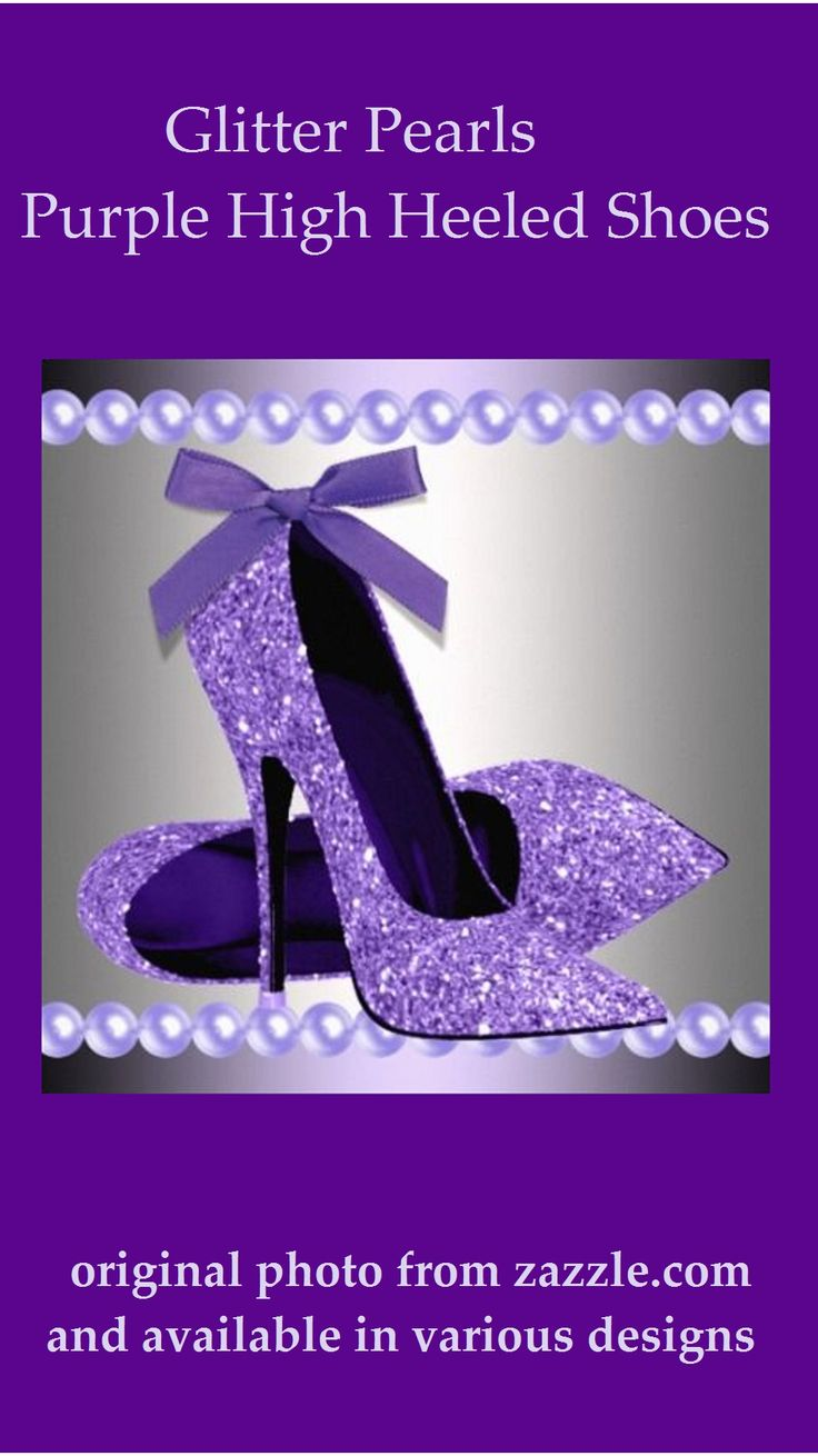 Purple Glitter Pearls and High Heeled Shoes: Gorgeous!!!