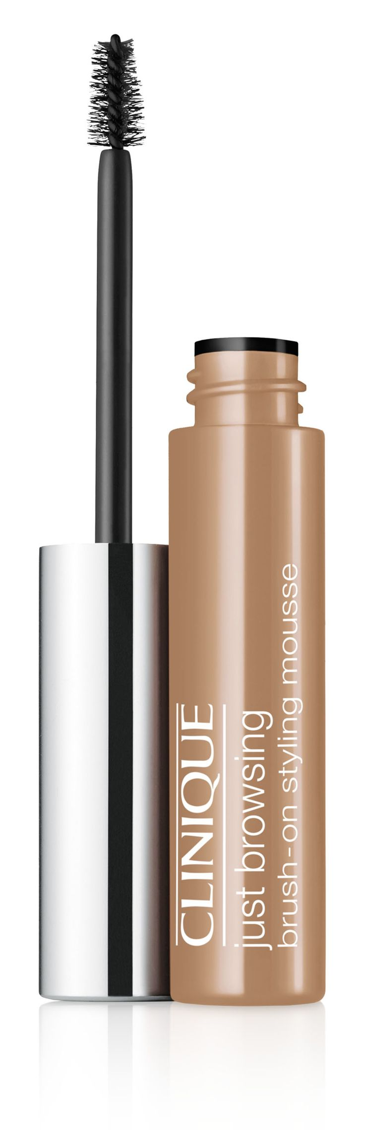 Autumn Makeup Trend: Bold Brows. Get the look with Clinique Just Browsing Brush-On Styling Mousse in Blonde. 24-hour long-wearing brow mousse tints, tames, fills-in even the sparsest brows.