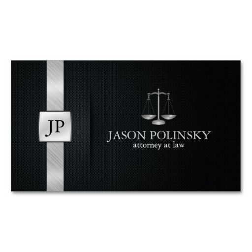 Elegant Black and Silver Attorney At Law Business Card. This great business card design is available for customization. All text style, colors, sizes can be modified to fit your needs. Just click the image to learn more!