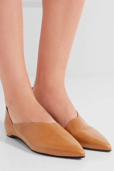 Pierre Hardy - Mirage Leather Point-toe Flats - Tan