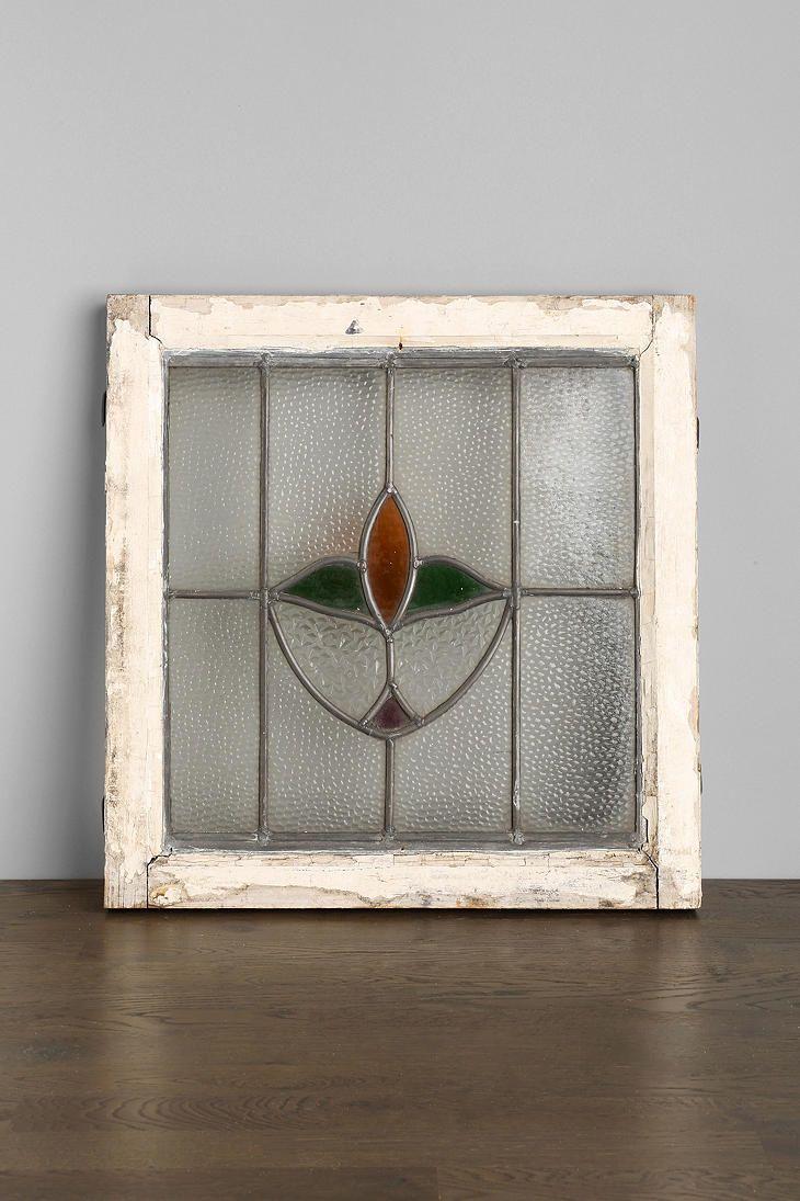 Vintage Tulip Stained Glass Window Panel Vintage Window