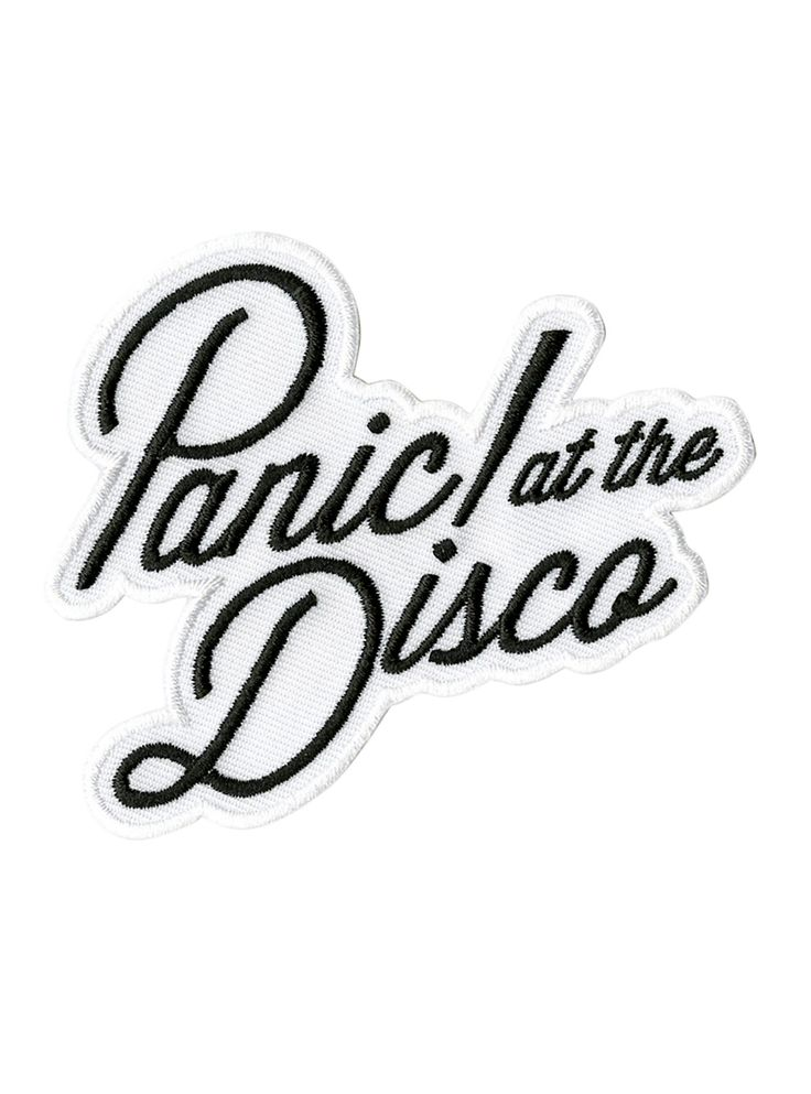 "<p>Iron-on patch from Panic! At The Disco with embroidered logo design.</p> <ul> <li>3 1/4"" x 2 3/4""</li> <li>Imported</li> </ul> <p> </p>"