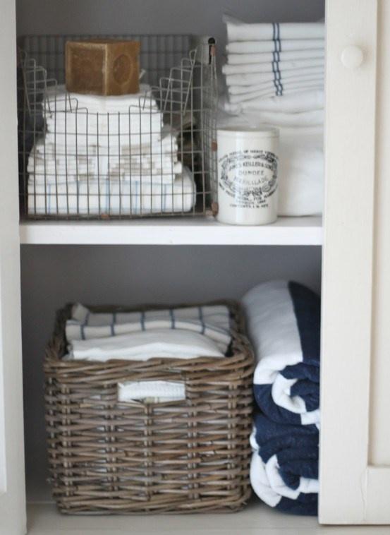 Small Bathroom Linen Storage Ideas : Linen storage bathroom closet makeover