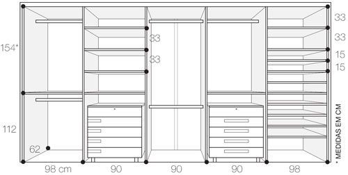 ergonomia armarios closet - Pesquisa Google