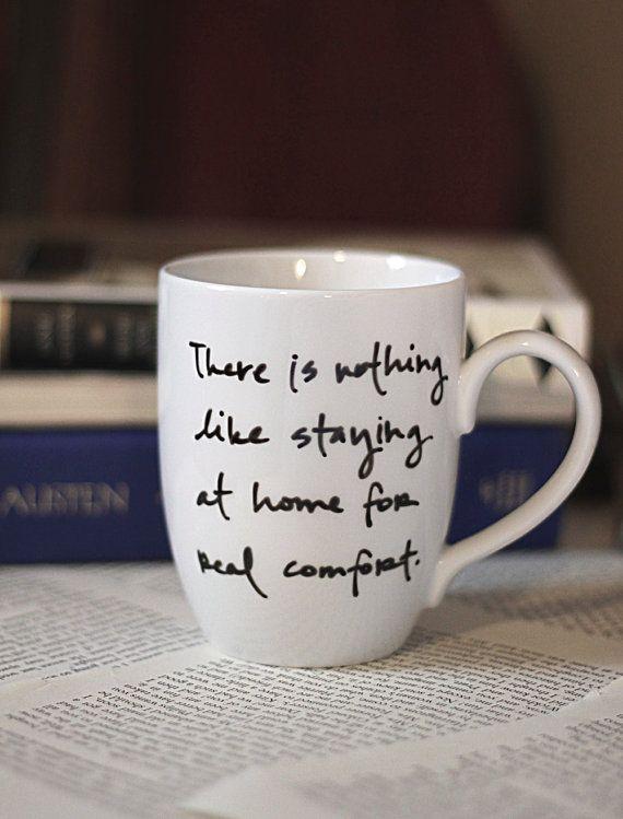 Jane Austen citation Mug par Brookish sur Etsy